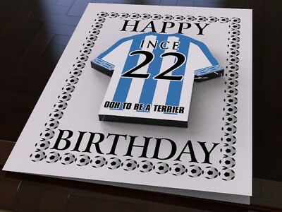 Huddersfield town happy birthday football club style card the huddersfield town personalised greetings card with fridge magnet m4hsunfo