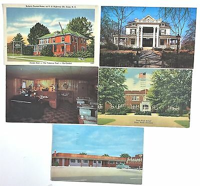 T8765     Dunn,  N.c.    Postcard Lot,      5  Different  Cards
