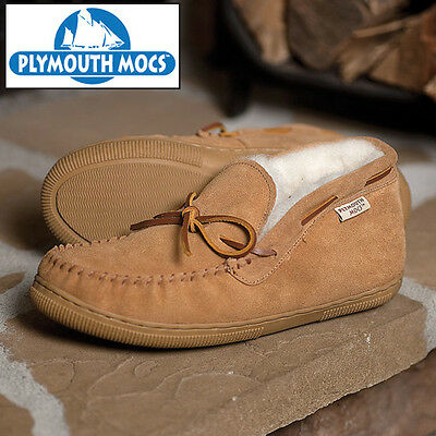 Plymouth Mocs Tan Suede Chukka Slippers - Men's 8