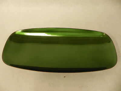 Vintage Wallace Sterling Silver Green Enameled Footed Serving Tray