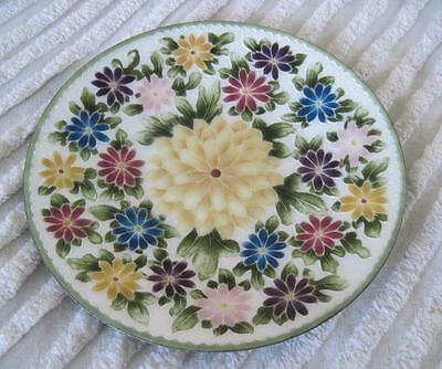"""Ando Cloisonne Floral 8.25"""" Plate Made in Japan"""