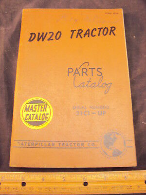1950 CAT Caterpillar DW20 Tractor Part Manual Book ORIG