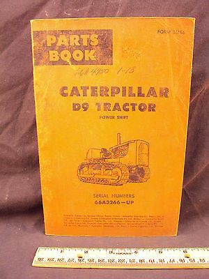 1968 CAT Caterpillar D9 Tractor Torque Converter Drive Parts Manual Book