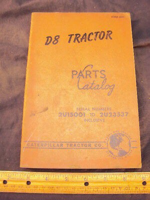 1955 CAT Caterpillar D8 Tractor Parts Manual Book ORIG
