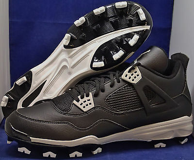 premium selection 40024 993c2 Nike Air Jordan IV 4 Retro MCS Oreo Baseball Cleats SZ 14 ( 807709-010