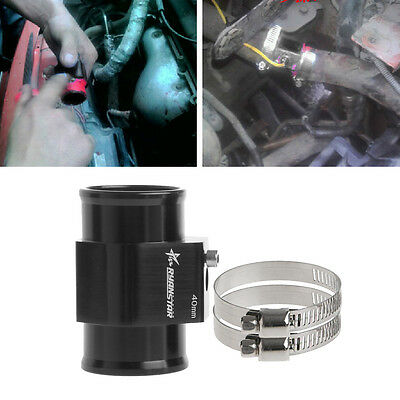 Water Temp Temperature Joint Pipe Sensor Gauge Radiator Hose Adapter 40mm Black