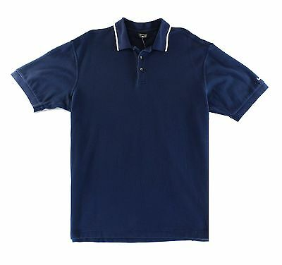 Nike Golf NEW Blue Mens Size XL Short Sleeve Tipped Polo Rugby Shirt $60 #167