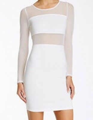 Painted Threads NEW White Women's Size Large L Illusion Bodycon Dress $48 #780