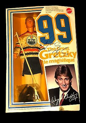 Wayne Gretzky Nhl Oilers Hand Signed Autographed Action Figure Doll In Box W/coa