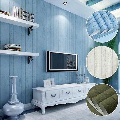 1 Roll Wood Optic Panelling Timber Wood Panel Effect Wallpaper 10M Decal Mural