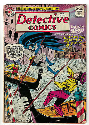 BATMAN DETECTIVE  DC COMICS 248 1957 VG+ 4.5  golden age around world 8 days