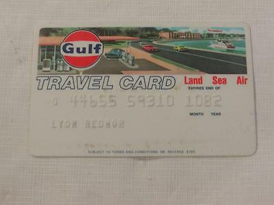Vintage Gulf Travel Card Oil Gas Station Credit Card Expires 10/82 #2