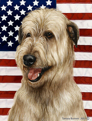 Garden Indoor/Outdoor Patriotic II Flag - Fawn Irish Wolfhound 323301