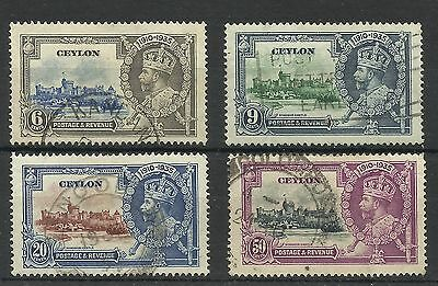 Ceylon,1935 Set of Silver Jubilee Issues, Fine used [210]
