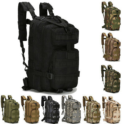 Molle Backpack Outdoor Military Tactical Rucksack Assault Camping Hiking Bag Men