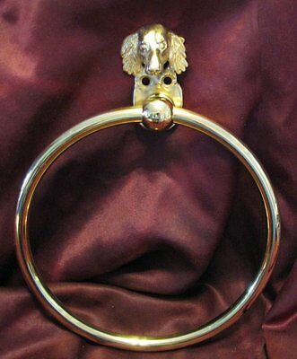 DACHSHUND, Long Haired, Bronze Towel Ring!