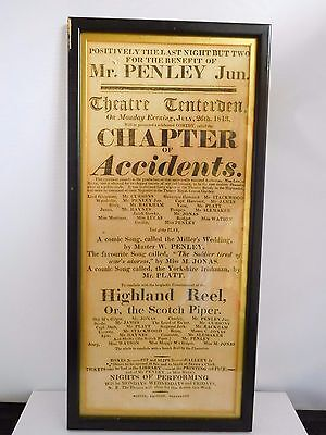 Good Example Of A Georgian Theatre Poster Bill - 1813 - Tenterden Kent