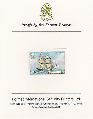 Tuvalu 3033 - 1986 SHIPS 40c on Format International PROOF  CARD