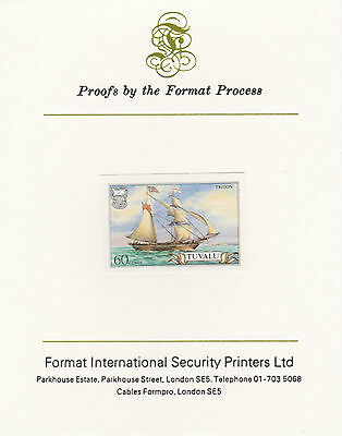 Tuvalu 3035- 1986 SHIPS 60c on Format International PROOF  CARD