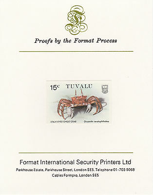 Tuvalu 3036 - 1986 CRABS 15c on Format International PROOF  CARD