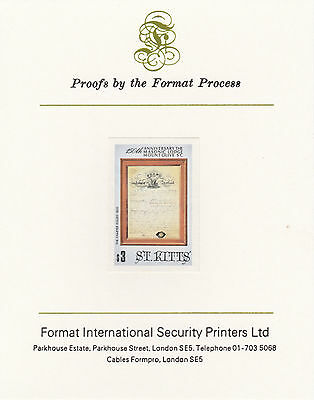 St Kitts 3043 - 1985  MASONIC LODGE $3 on Format International PROOF  CARD