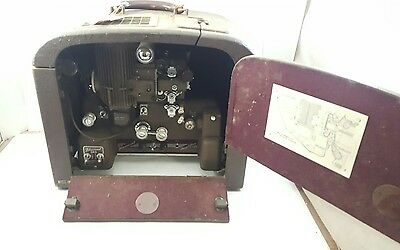 BELL & HOWELL 16mm FILMOSOUND 185 Movie Film PROJECTOR with Sound Tube Amplifier