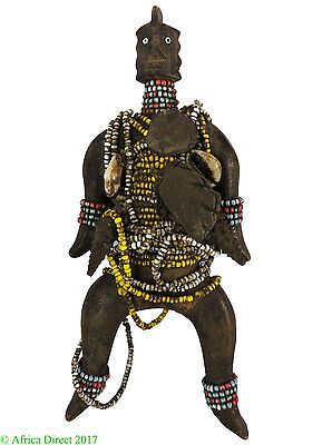 Namji or Namchi Beaded Fertility Doll Cameroon African Art SALE WAS $95