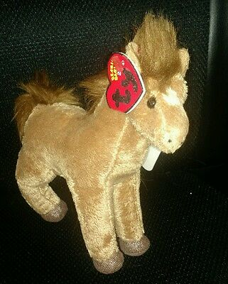 TY Beanie Baby 2.0 Saddle the Horse Unused Code New with Tags 2007 Retired NWT