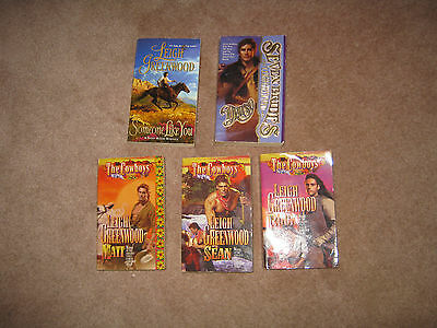 Lot of 5 Leigh Greenwood Historical Western Romance Books PB The Cowboys