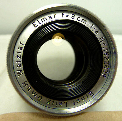GREAT CONDITION USED LEICA ELMAR 9cm(90mm)f4 COLLAPSIBLE LENS 4 LEICA M CAMERAS