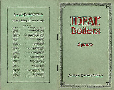 Ideal Boilers American Radiator Co. 1917 Booklet Boilers Water Heaters Scarce