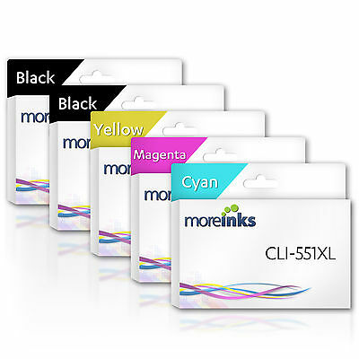 MOREINKS Compatible Canon CLI-551XL / PGI-550XL Ink Cartridges for Pixma Printer