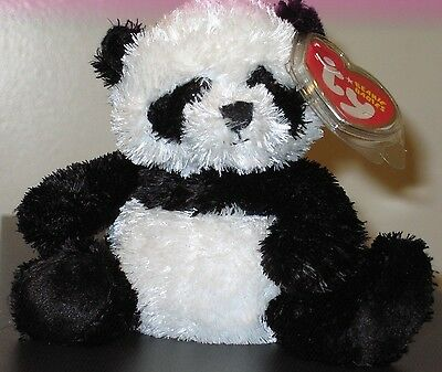 Ty Beanie Baby ~ WONTON the Black & White Panda Bear ~ MINT with MINT TAGS