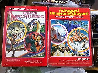 Intellivision Dungeons & Dragons Lot - AD&D and AD&D Treasure of Tarmin EXC