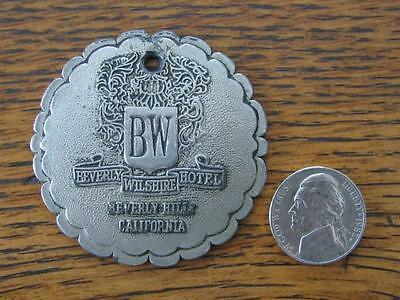 Vintage Beverly Wilshire Hotel Room Key Fob, Beverly Hills California