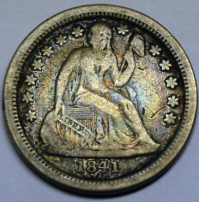 1841-o Seated Liberty Dime VF 80505