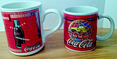 Coke Advertising Coca Cola Coffee Cups Mugs , I'd Like to Buy The World a Coke