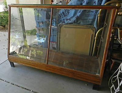 Antique Oak Slant Front Showcase Shoe Display  Case Local Pickup only
