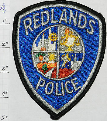 California, Redlands Police Dept Patch