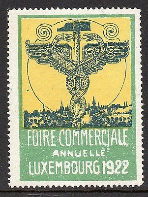 Luxembourg 1922 Commercial Fair publicity poster stamp