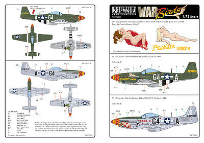 Kits-World 1/72 P-51D Mustang Capt. Charles Weaver Passion Wagon # 72050