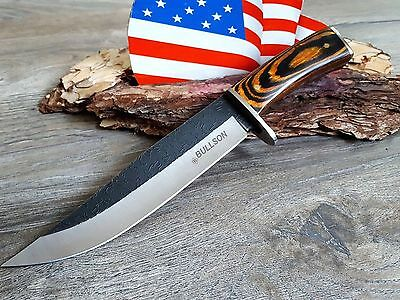 Bullson Usa Messer Bowie Knife Hunting Coutean Cuchillo Coltello Jagdmesser