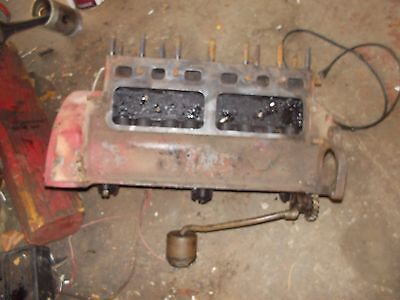 Ford 8N tractor original engine motor block w/ pump & pickup tube