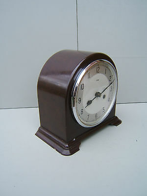 Smiths Enfield Bakelite  mantel clock working lubricated original  pen key  B1