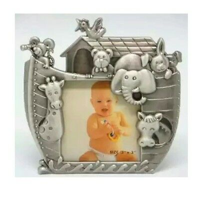 Noah's Ark Pewter Picture Frame-Great Baby Shower or Baby's Birth Gift