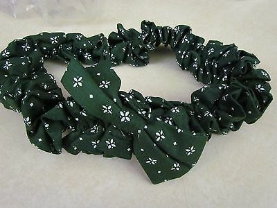 Longaberger Large Garter:  Heritage Green with Bow ~ New!