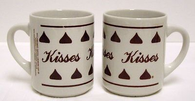 Hersheys Kisses Coffee Mugs Cups Chocolate Candy Advertising Lot of 2