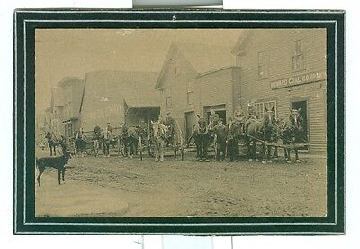 Vintage Advertising Card with Photo Howard Coal Company Maine