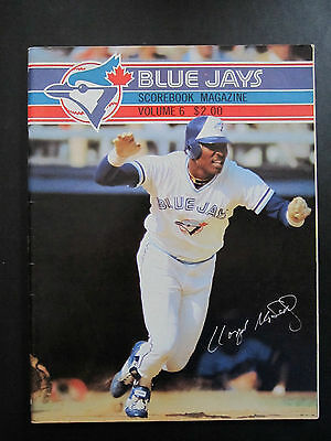 1982 -Toronto Blue Jays vs. New York Yankees - Scorebook Magazine - Lloyd Moseby