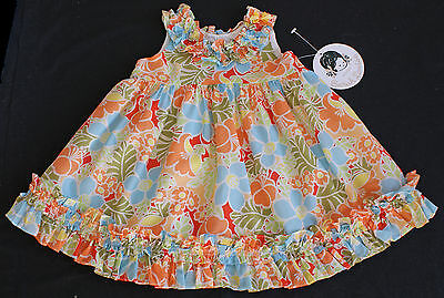 Sarah Louise dress baby girl summer frilly floral funky